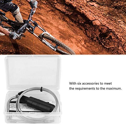Alomejor MTB Internes Kabelführungswerkzeug Fahrrad Schaltzug Kabelsatz mit Magnet Abnehmbarer Kappe Drähten Fahrradzubehör - 4