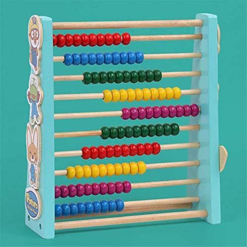 Detazhi Bloque de Madera Juguetes educativos Primeros Perlas de Madera Juguetes educativos Dar Regalos a niños y niñas - Cuentas de Madera coloreadas (Color: Multicolor, tamaño: tamaño Gratis)