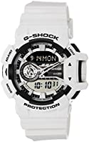 Casio G-Shock Men's Black and Grey Ana-Digi Dial Resin Band Watch - GA-400-7ADR, Quartz