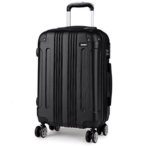 Kono 20 Inch Harde Shell Bagage Lichtgewicht ABS 4 Wielen Spinner Business Trip Trolley Case Cabin Draagtas Handbagage Koffer (Zwart 20
