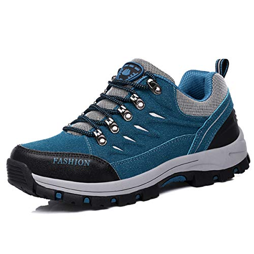 Womens Hiking Shoes Boots Mens Walking Trainers Breathable Non-Slip Lightweight Sneakers Trekking Shoes Unisex Outdoors Hiker Mountaineering Backpacking Blue