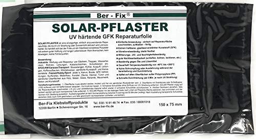 Ber-Fix® Solar Pflaster (150x75mm) Das UV Härtende GFK - durch Sonne oder UV Lampen, GFK Reparatur