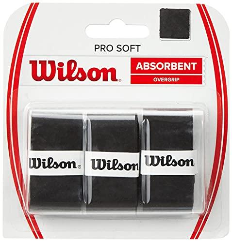 Wilson Grip WRZ4040BK Impugnatura Pro Soft Overgrip, Unisex, Nero, 3 Unità