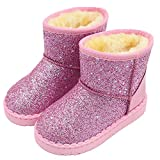 Girl's Warm Winter Sequin Waterpoof Outdoor Snow Boots pink7 toddler