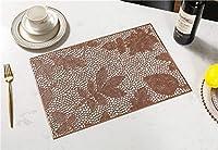 ZJN-JN 正方形のテーブルマットプレースマット洗えるPVCテーブルクロスパッドのマットTablemats防汚ダイニングディスクボウルパッドコースターノンスリップパッド (Color : Rose, Size : 2 PCS)