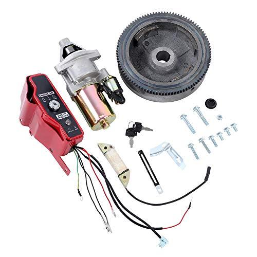 Deror Kit de Arranque eléctrico Caja de Interruptor de Control del Volante del Motor de Arranque para Honda GX390