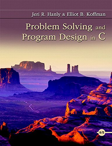 Problem Solving and Program Design in C Plus MyLab Programming with Pearson eText -- Access Card Package (8th Edition)