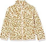 Amazon Essentials Sherpa Fleece Full-Zip Jackets_dnu Chaqueta de Forro Polar, Leopardo Marfil, 4 años