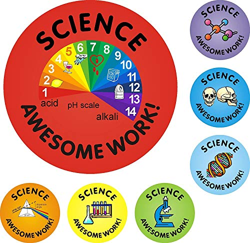 175 25mm Science Awesome Work Praise Reward Stickers Set