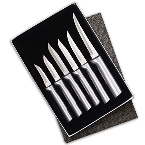 Rada Cutlery Paring Knife Set – 6 Knives with Stainless Steel Blades With Aluminum Handles Made in the USA