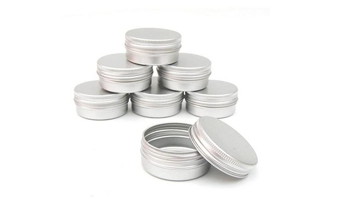 10PCS Round Metal Aluminium Cosmetic Cases-Balm Nail Art Cream Make Up Pot Lip Jar Tin Case Container With Screw Cap For DIY Cosmetics/Beauty Products (100g)