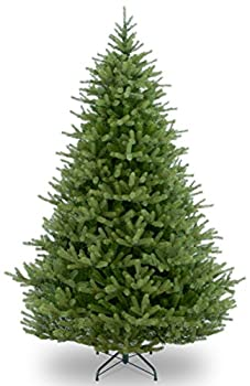 National Tree Company  Feel Real lit Artificial Christmas Tree Includes Pre-strung White Mini LED Lights and Ground Stakes - Crystal Holy Family Nativity - 4.5 ft 7 Feet