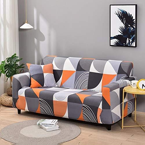 WXQY Funda de sofá elástica con patrón geométrico Funda de sofá de Esquina en Forma de L elástica Funda de sofá Antideslizante Antideslizante a Prueba de Polvo A18 de 3 plazas