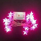 Yosemite - Guirnalda de 40 Luces LED con Forma de Estrella, Funciona con Pilas, para Navidad, Bodas, Fiestas, decoración, para salón, Vacaciones, Regalos para el hogar