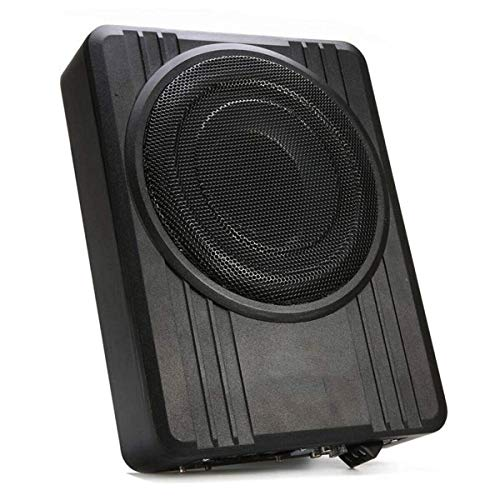 ZooTek 10 inches 600W Under-Seat Car Subwoofer Powered Bass Amplifier Slim Enclosure Sub