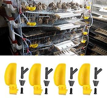 Gosear 10 Set Birds Cage Abreuvoirs Mangeoires pour Pigeons Cailles Perroquets Fermes d'élevage Fermes Jardin Cour Gauche