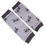 la.nunu Stulpen - Waschbären Grau 0-23 Monate - Beinstulpen für Babys und Kinder aus Baumwolle - Handarbeit - Kinderstulpen und Babystulpen für Jungen und Mädchen