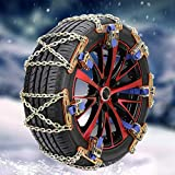 mementoy Cadenas de nieve universales 100 de metal para coche, SUV, camión, juego de 2