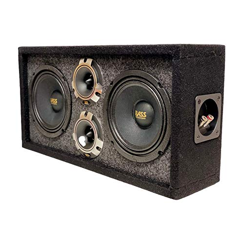 "Bass Rockers 6.5"" Loaded chuchera Box with 6.5"" Speakers and Tweeters 800W for Car Home UTV, ATV, Camper, DJ, Pro Audio Use"