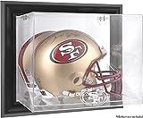 San Francisco 49ers Black Framed Wall-Mounted Helmet Display - Football Helmet Logo Display Cases
