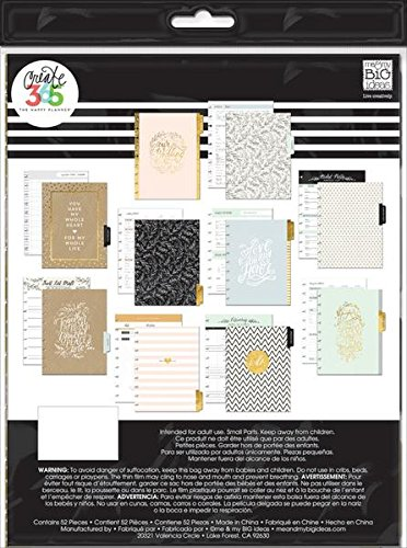 me & my BIG ideas Wedding Extension Pack - The Happy Planner Scrapbooking Supplies - Pre-Punched Pages - Wedding… |