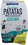 Patatas fritas Mediterranea elaboradas con aceite de oliva y agua de mar, envase de 150 gramos, sabor inconfundible, textura crujiente