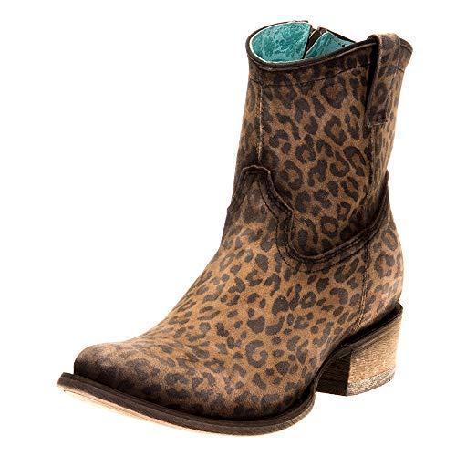 CORRAL Women's Leopard Print Fashion Booties Round Toe Leopard 9 M