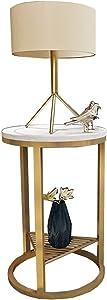 Tavolino da caffè Rotondo in Marmo/Tavolini/Tavolini di Servizio, Moderno Piccolo Appartamento Creativo, Adatto per Soggiorno/Balcone/Angolo, Nero/Oro (Dimensioni: 55 × 55 × 50 cm)