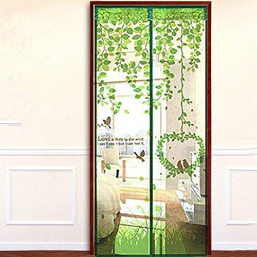Green Love Bird Porte d'écran magnétique Full Frame Magic Mesh Net Rideau anti-moustique, 100 * 210cm