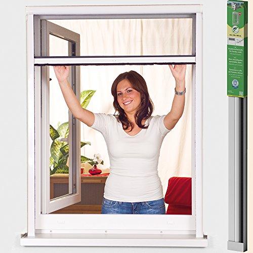 Mosquitera enrollable de PVC Easy Life Greenline Basic, para ventanas, individual acortable, ideal para repeler mosquitos, 125 x 150 cm
