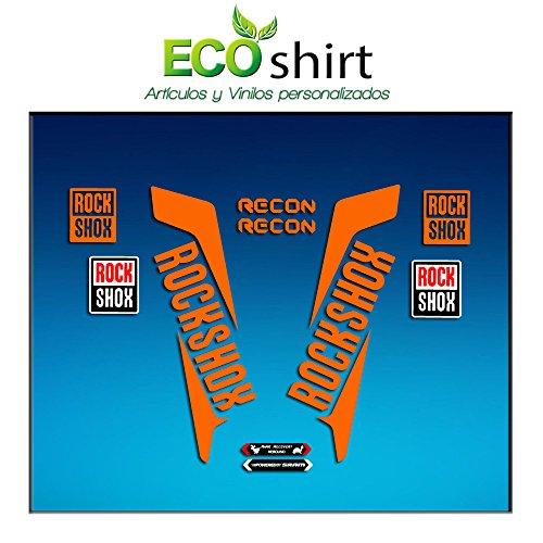 Ecoshirt FO-UZ7V-4MAH Pegatinas Horquilla Fork Rockshox Recon 2016 Am36 Stickers Aufkleber Decals Adesivi Bike BTT MTB Cycle, Naranja 29
