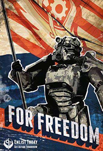 Fallout Brotherhood of Steel Gifts for Lovers Poster Poster Home Art Wall Posters [No Framed]
