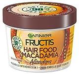 Garnier Fructis Hair Food Mascarilla Capilar 3 en 1 Macadamia Alisante para Pelo Rebelde - 390 ml