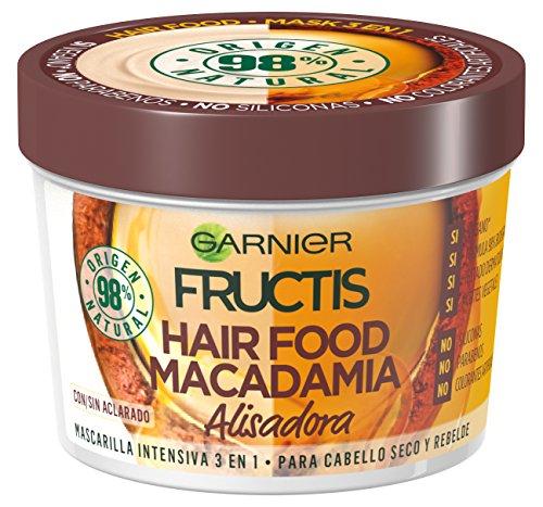Garnier Fructis Hair Food Mascarilla de Macadamia Alisadora para Pelo Seco o Rebelde - 390 ml