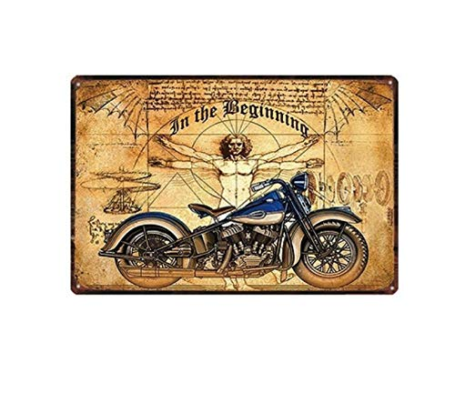 LHCY Vintage Stijl Metalen bord Nieuwigheid Poster muur Plaquetin Tekenen Shabby Chic Vintage Scooter Metalen Plaat Garage Wall Bar Home Art Decor Iron Poster
