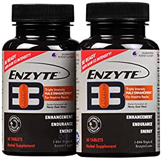 Enzyte3® Natural Male Enhancement Supplement for Energy and Endurance - L-Citrulline, Epimedium, Guarana Seed Extract, Hor...