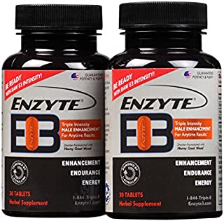 Enzyte3® Natural Male Enhancement Supplement for Energy and Endurance - L-Citrulline, Epimedium, Guarana Seed Extract, Horny Goat Weed and More - 60 Tablets