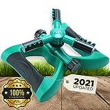 Lawn Sprinkler Garden Sprinkler - 2021 Updated, Automatic 360 Rotating...