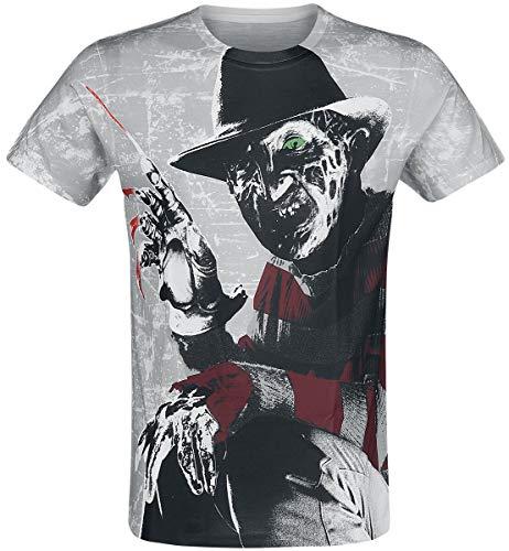 Officieel gelicensed merchandise Freddy Kruger Allover T-shirt (multicoloured)