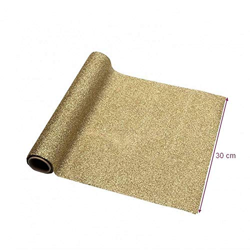 Artif tafelloper van ondoorzichtige stof, glanzend, lengte 3 m, breedte 30 cm