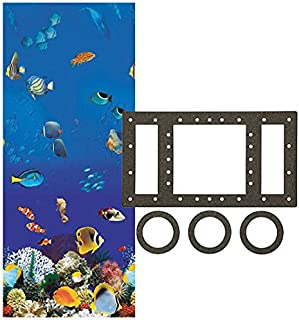 Smartline Caribbean 27-Foot Round Liner | Overlap Style | 48-to-52-Inch Wall Height | 25 Gauge Virgin Vinyl | Designed for Steel Sided Above-Ground Swimming Pools | Universal Gasket Kit Included