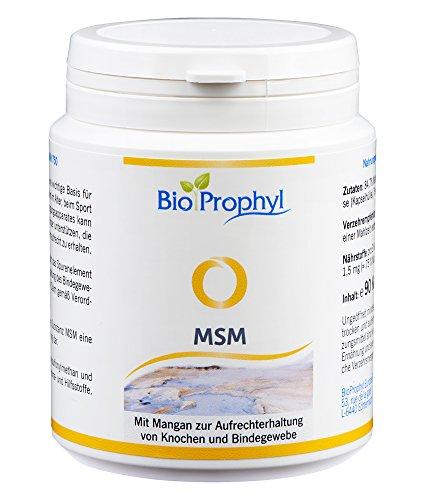 BioProphyl® MSM - 750 mg reines Methylsulfonylmethan - natürliche, organische Schwefel Ergänzung hochdosiert mit hoher Bioverfügbarkeit, vegan hergestellt in Deutschland - 90 Kapseln