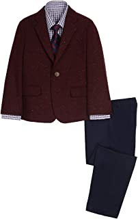 Nautica Boys' 4-Piece Suit Set with Dress Shirt, Tie, Jacket, and Pants