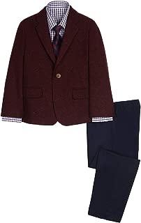 Nautica Boys' 4-Piece Suit Set with Dress Shirt, Tie, Jacket, and Pants