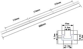 T-spår geringsspår Jig T-spår spår gerings anodiserande ytskiva för bandsågar(0.6m T slot)