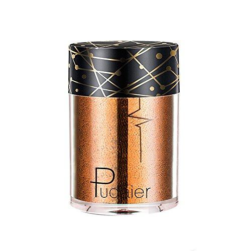 Glitter Fard À Paupières Poudre, Fulltime® Waterproof Eye Shadow Shimmer Poudre Nail Cosmétiques Paillettes Couleurs Mélangées (D)