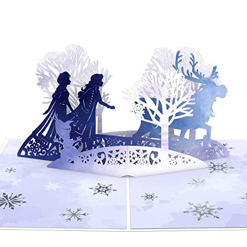 Lovepop Disney Pop-Up-Karten – Grußkarten, 3D-Karten, Urlaubs-Pop-Up-Grußkarten, Pop-Up-Weihnachtskarten, Weihnachtskarten Frozen 2 Mythische Reise