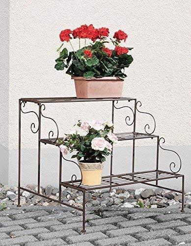 linoows Pflanzen Etagere, Pflanztreppe, Blumen Etagere, Blumenregal, Retro Blumenbank