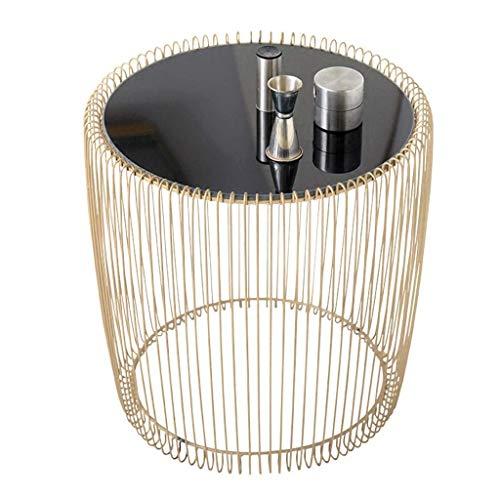 Escritorio de oficina en casa Nordic lado del espejo de hierro forjado - Simple parte redonda - forjado del hierro del espejo mesa de la esquina de mesa de café Tablas Nest escritorio plegable