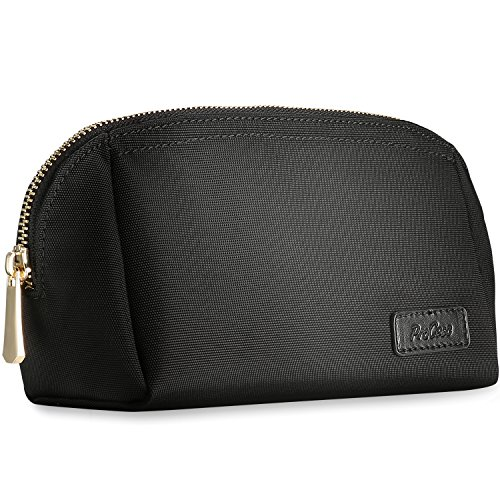 ProCase Cosmetic Makeup Bag, Handy Purse Makeup Pouch Clutch Organizer Travel Storage Bag for Women Skincare Facial Cleanser and Beauty Stuff -Small, Black